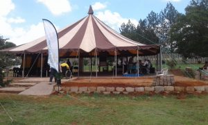 First Tent for communal dining and events